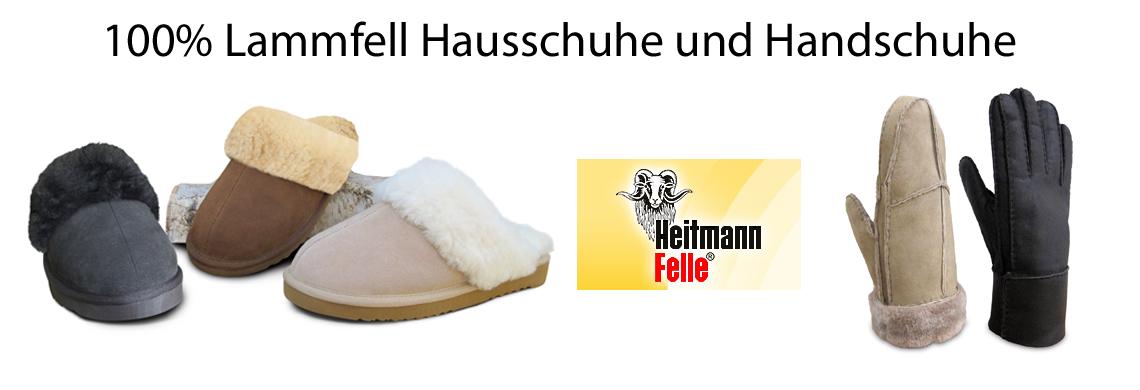 100% Lammfell Hausschuhe und Handschuhe