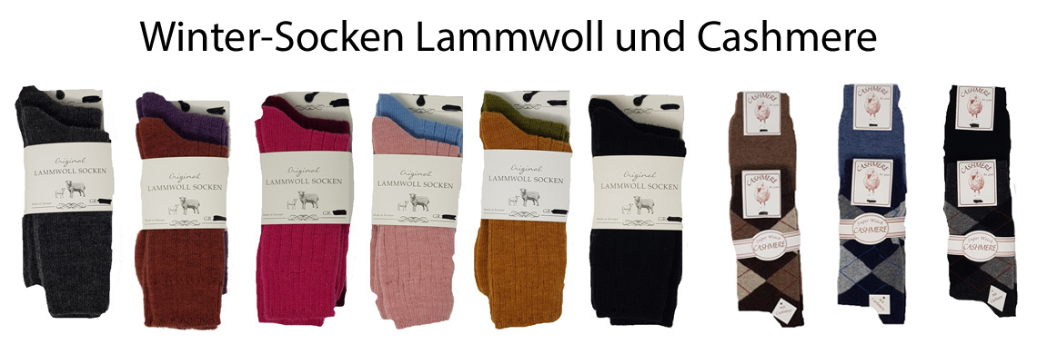 Lammwollsocken